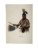Naw-Kaw, Winnebago Chief, Print Made by Thomas Loraine Mckenney, C.1840