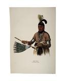 Naw-Kaw, Winnebago Chief, Print Made by Thomas Loraine Mckenney, C.1840