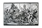 Cartoon Depicting the Riots in New York on St Patrick's Day 1867, Published in Harper's Weekly,…