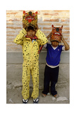 Two Boys Dressed as Jaguars, in a Fertility and Rain Making Festival Dating from the…