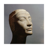 The Unfinished Head of Queen Nefertiti, Wife of Akhenaton