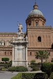 Buy Statue of Saint Rosalia in Front of Palermo Cathedral, Sicily at AllPosters.com