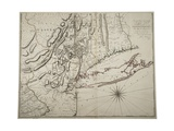 Map of Lower New York State and Surrounding Areas, C.1775