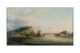View of a Bridge over the Schuylkill River, C.1815