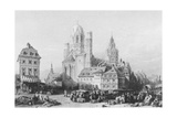 Mainz Cathedral, Engraved by J. Redaway, C.1850