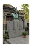 Tomb of Thomas Couture in Pere Lachaise Cemetery in Paris