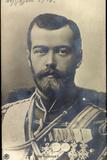 Ak Zar Nicolaus II Von Russland, Portrait, Uniform, Abzeichen Und Orden