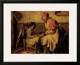 Playing Checkers Framed Art Print