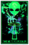 Take Me To Your Dealer College Blacklight Poster Opticz Treehouse Blacklight Poster Magic Valley Satio Pin-up Blacklight Poster Moonlit Pirate Ghost Ship Blacklight Poster Art Print Lost Horizon Timberwolves Flocked Blacklight Poster