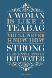 Strong Woman Eleanor Roosevelt Quote Poster