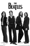 The Beatles Black and White Poster