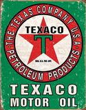 Texaco Oil Weathered Tin Sign Tin Sign