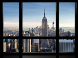 Window View, Special Series, Empire State Building, Manhattan, New York, United States Photographic Print