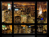 Window View, Special Series, Landscape by Night, Manhattan, New York City, United States Photographic Print