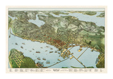 Buy Map of Seattle, Washington, 1891 at AllPosters.com