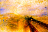 Joseph Mallord Turner Rain Steam and Speed the Great Western Railway Poster