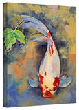 Buy Michael Creese 'Koi with Japanese Maple Leaf' Gallery-Wrapped Canvas at AllPosters.com