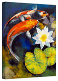 Buy Michael Creese 'Koi Fish and Water Lily' Gallery-Wrapped Canvas at AllPosters.com
