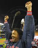 Pedro Martinez celebrating, Game 7 win - ALCS ©Photofile