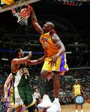 NBA Shaquille O'Neal Action Los Angeles Lakers' Shaquille O'Neal and Philadelphia 76ers' Dikembe Mutombo - NBA Champions - June Kobe Bryant & Shaquille O'Neal 2001 NBA Finals Action Shaquille O' Neal