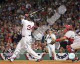 David Ortiz hitting game 3 and 2004 ALDS winning HR against Anaheim Angels ©Photofile