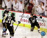 Sidney Crosby, Evgeni Malkin, & Marian Hossa Celebrate Crosby's 2nd Goal Game 3 Stanley Cup Finals