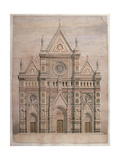 Buy Dome, Drawing for the Fa?e of Florence Cathedral, 1866 - 1867. Italy at AllPosters.com