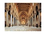 Buy Santa Maria Nuova Cathedral, Interior of nave, 1172-1183. Palermo, Italy at AllPosters.com