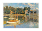 Argenteuil Bridge, by Claude Monet, 1874. Musee d