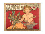 Buy Poster Advertising 'Waverley Cycles', 1898 at AllPosters.com