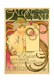 Buy Poster Advertising the 'Salon Des Cent' Mucha Exhibition, 1897 at AllPosters.com