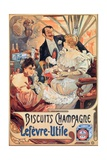 Buy Poster Advertising 'Lefevre-Utile' Champagne Biscuits, 1896 at AllPosters.com