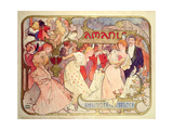 Buy Poster Advertising 'Amants', a Comedy at the Theatre De La Renaissance, 1896 at AllPosters.com
