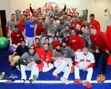 Boston Red Sox - Shane Victorino, Dustin Pedroia, Mike Napoli Photo
