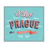 Vintage Greeting Card From Prague - Czech Republic