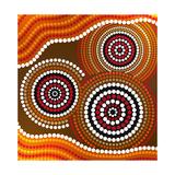 Australia Aboriginal Art Art Print