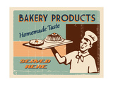 Buy Vintage Sign - Fresh Bakery Products at AllPosters.com