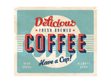 Buy Vintage Sign - Fresh Brewed Coffee at AllPosters.com