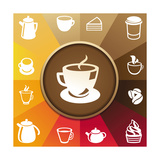 Buy Coffee And Tea Icons at AllPosters.com