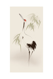 Oriental Style Painting, Red-Crowned Crane Art Print