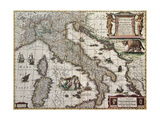 Buy Italy Old Map. Created By Henricus Hondius, Published In Amsterdam, 1631 at AllPosters.com