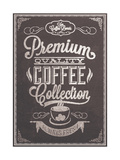 Buy Premium Quality Coffee Collection Typography Background On Chalkboard at AllPosters.com