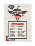 Buy Cafe Menu. Seamless Background And Design Elements at AllPosters.com