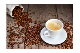 Buy Coffee Cup With Beans at AllPosters.com
