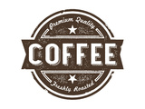 Buy Vintage Fresh Coffee Label Stamp at AllPosters.com