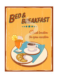 Buy Vintage Sign - Bed And Breakfast at AllPosters.com