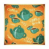 Buy Coffee Tea Cups And Coffee Tea Pot at AllPosters.com