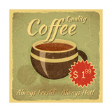 Buy Grunge Card With Coffee Cup at AllPosters.com