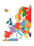Buy Europe With Editable Countries at AllPosters.com