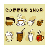 Buy Coffee Design Elements at AllPosters.com